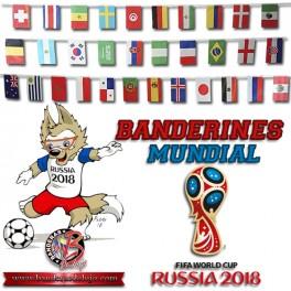 Banderines Mundial Rusia 2018